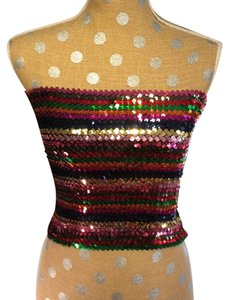 Silence + Noise Sequin Tube Rainbow Top multi