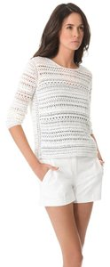 Theory Openwork Crochet Macrame Summer Sweater