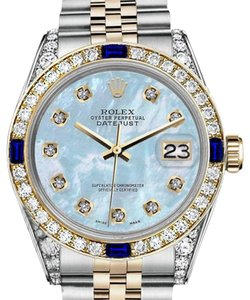 Rolex Rolex 36mm Datejust 2 Tone Baby Blue MOP Dial With Sapphire & Diamond