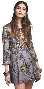 For Love & Lemons And Sierra Mini Silk Romantic Dress