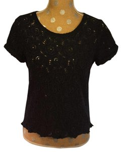 Abercrombie & Fitch Lace Top Navy