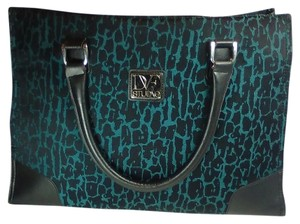 Diane von Furstenberg Blue Animal Print Tote Laptop Bag