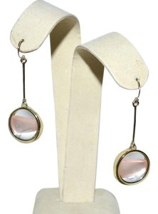 Alexis Bittar New ALEXIS BITTAR Crystal Gold LUNA Dangler Earrings Sunset Blush