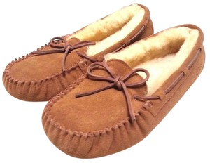UGG Australia Winter Slippers Suede Shearling Chestnut Flats