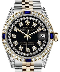 Rolex Rolex 36mm Datejust Black String Dial with Sapphire & Diamonds