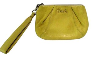 Coach Small Zip Pouch Wallet Wristlet in Yellow