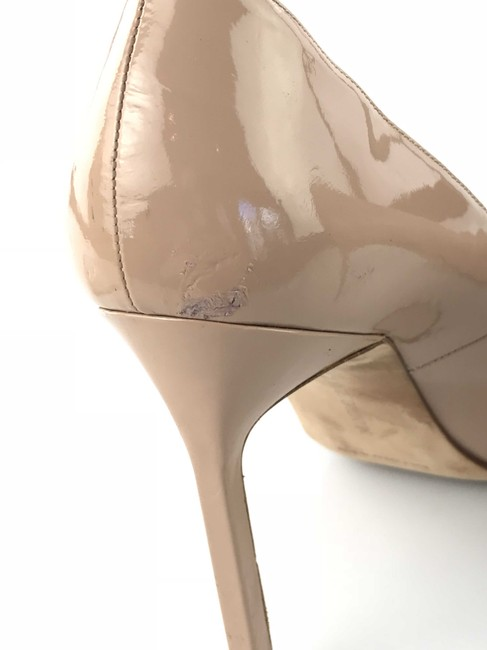 Manolo Blahnik Nude Bb Patent Leather Pointed-toe