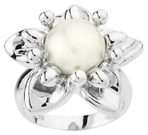 Honora Honora Cultured Pearl 9.5mm Button Flower Ring - Size 7