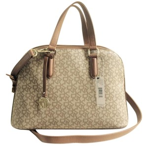 DKNY Heritage Brown Satchel in KHAKI TAN