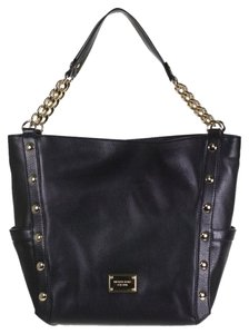 Michael Kors Mk Large Tote in Black/Gold hardware