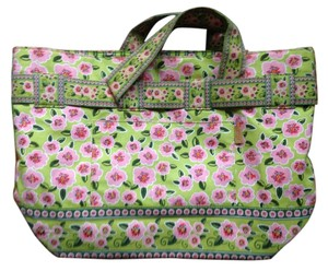 Maggie B. Floral Preppy Feminine Tote in French Country Blossom