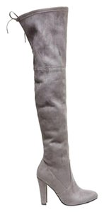 Steve Madden Run Large Over The Knee Suede Grey Boots