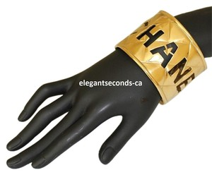 Chanel CLEARANCE SALE Auth.Chanel Gold Plated Bangle