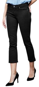 Gap 1969 Cropped Flare Cotton Blend Capri/Cropped Denim-Dark Rinse