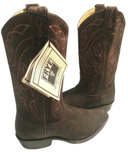 Frye Waxed Distressed Stitch Cowgirl Style 76876 Suede Charcoal Boots