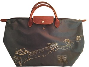 Longchamp Limited Edition Tote in Greyish/Dark Blue