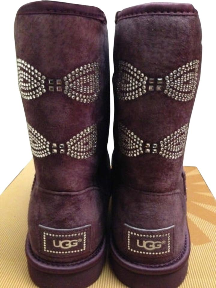 ccab349d06b UGG Australia Purple New Women's Classic Short Swarovski Crystal Port Wine  Boots/Booties Size US 11 Regular (M, B) 39% off retail