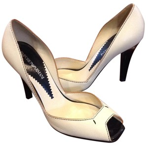Emporio Armani White & Black Pumps