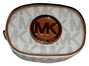 Michael Kors Fulton PVC Ivory Cosmetic Case Travel Pouch