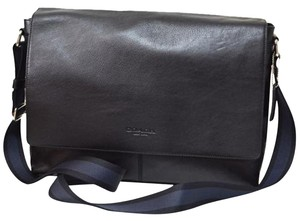 Coach Leather Classy Classic Black Messenger Bag