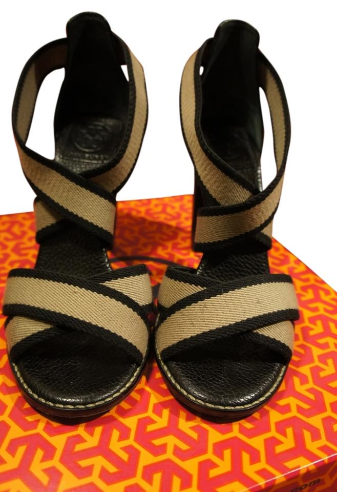 Tory Burch Black/Khaki Laurie High Heel 12128303 12128303 12128303 Sandals 225108