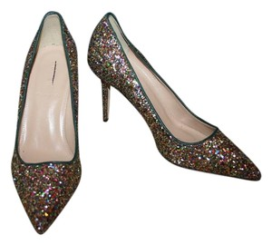 J.Crew Green Blue Glitter Pumps