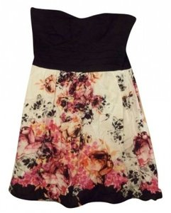 Trixxi short dress black & floral Spring on Tradesy