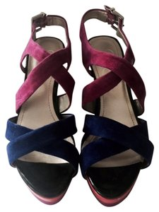 Jessica Simpson Platform Multicolor black/blue/pink/orange Sandals
