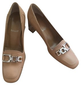 Bally Leather Camel Pumps