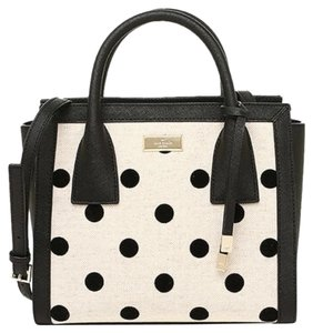 Kate Spade Polka Crossbody Satchel in Black/Natural Dot