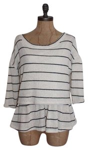 Anthropologie Romantic Striped Soft Sweater