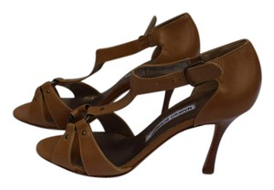Manolo Blahnik Leather Tan Sandals
