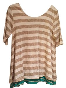 Anthropologie T Shirt Tan
