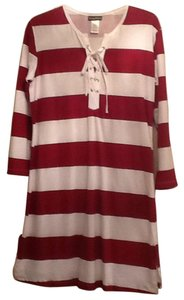 Tommy Bahama short dress Burgundy and pure white on Tradesy