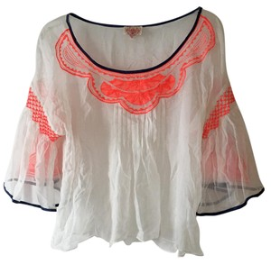 Plenty by Tracy Reese Top White and Orange