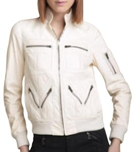L.A.M.B. Cream Leather Jacket