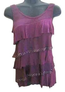 Studio Y Tiered Summer Formal Top Purple