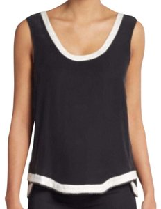 Ramy Brook Top Black and White Trim