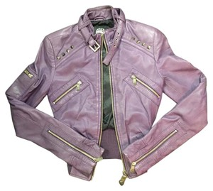 Rock & Republic Purple Leather Jacket