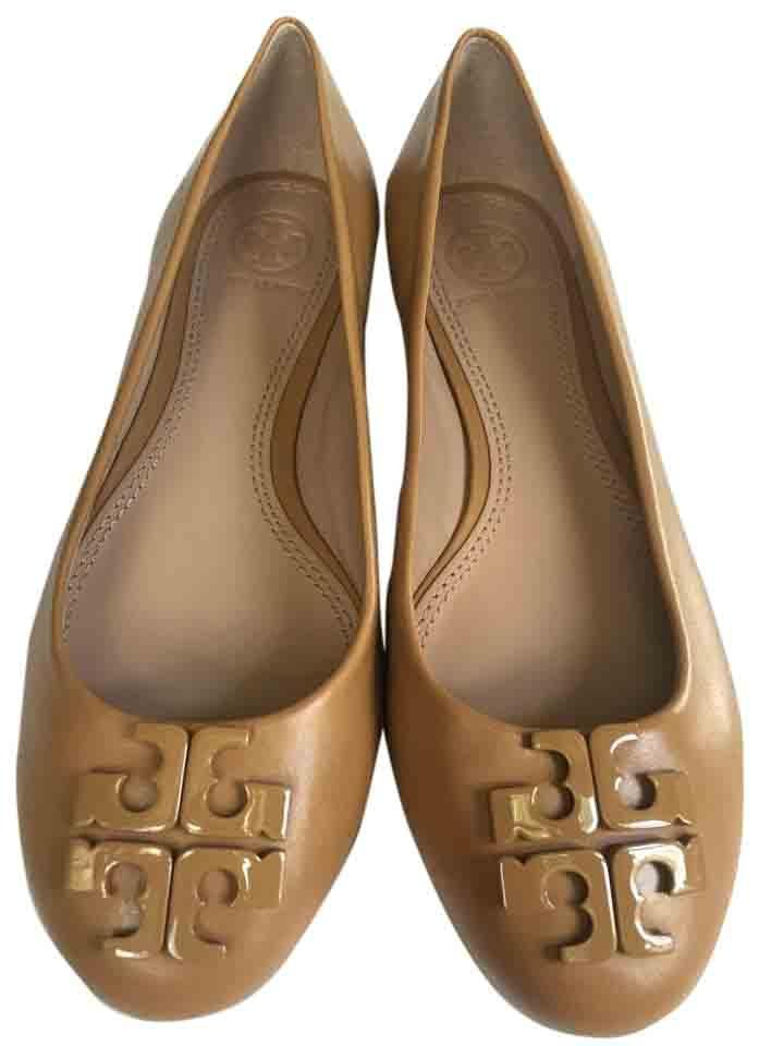 5481cce3ff3d Tory Burch Blond In Box Lowell 2 Ballet Leather Brazil Flats Size US ...