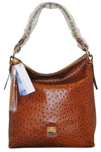 Dooney & Bourke Leather Ostrich Ot0371cg Hobo Bag