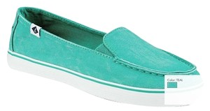 Sperry Slip On Cushion Insole Vintage Wash Teal Blue Flats