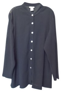 TravelSmith Mandarin Collar Long Crinkle Tunic