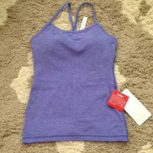 Lululemon NEW Lululemon Power Y Tank Stripe Space Dye Purple Lilac Size 4