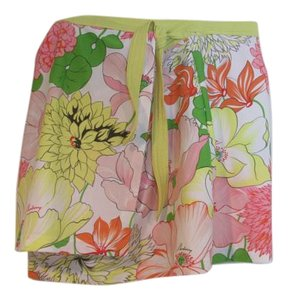 Burberry NWT BURBERRY LONDON Floral Swimsuit cover-up wrap skirt Small Signed