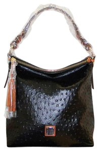 Dooney & Bourke Leather Ostrich Hobo Bag