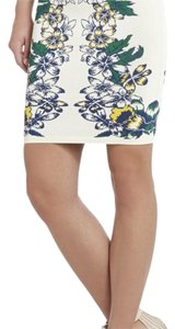 BCBGMAXAZRIA Skirt White/blue/green/yellow