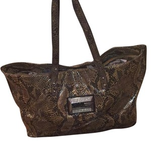 Guess Tote in Brown Black