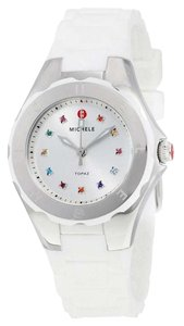 Michele Women's Tahitian Jelly Bean White Silicone Watch MWW12P000001