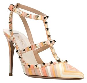 Valentino Native Couture Beige Yellow Pumps